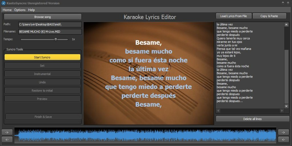 How to Synchronize Lyrics to MP3 | Kanto Editor