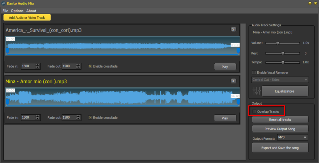 How to Overlap Two or More Audio Files with Audio Mix | Kanto Editor